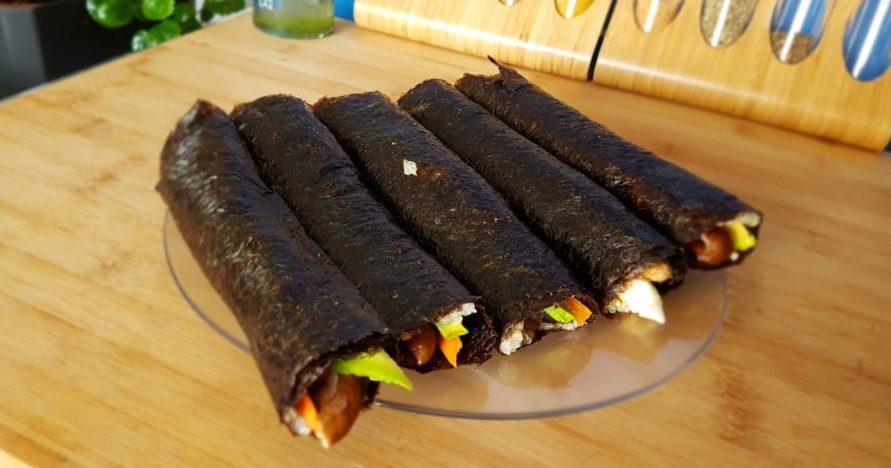 sushi con quinoa para recetas terapéuticas